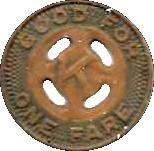 1 Fare - Kingston City Trans. Corp. (Kingston, N.Y.) – reverse