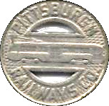 1 Fare - Pittsburgh Railways Co.  (Pittsburgh, PA) – obverse