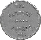 3 Cents - The Factory Stores Co. – obverse