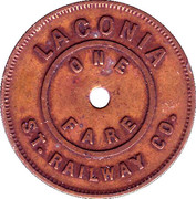 1 Fare - Laconia Street Railway Co. – obverse