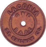 1 Fare - Laconia Street Railway Co. – reverse
