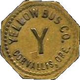 1 Ride - Yellow Bus Co. (Corvallis, Ore.) – obverse