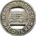 1 Fare - Waco Transit Co. (Waco, Texas) – obverse