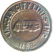 1 Fare – Lincoln City Lines – obverse