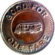 1 Fare – Lincoln City Lines – reverse