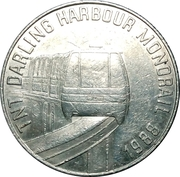 Token - TNT Darling Harbour Monorail (Sydney Harbour Bridge 1932) – reverse