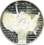 Encased Token - Quarters of the Fifty States (Delaware) – reverse