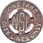 1 Fare - C.N.S. & M.R.R. Co. (Waukegan, Illinois) – reverse