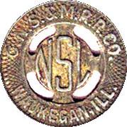 1 Fare - C.N.S. & M.R.R. Co. (Waukegan, Illinois) – obverse