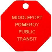 Token - Middleport Pomeroy Public Transit – obverse