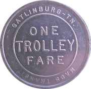 1 Trolley Fare - Gatlinburg Mass Transit (Gatlinburg, TN) – reverse