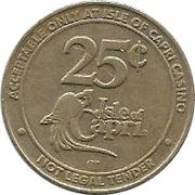 25 Cent Gaming Token - Isle of Capri (Booneville, MO) – reverse