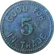 5 Cents - Berts Place – reverse