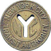 1 Fare - New York City Transit Authority (23 mm) – obverse
