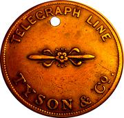 Transfer Ticket - Tyson & Co. Telegraph Line (New York, Manhattan) – obverse