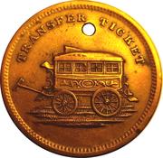 Transfer Ticket - Tyson & Co. Telegraph Line (New York, Manhattan) – reverse