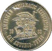 1 Fare - American Numismatic Association (San Antonio, Texas) – obverse