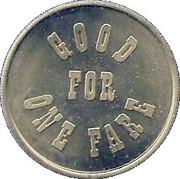 1 Fare - American Numismatic Association (San Antonio, Texas) – reverse