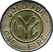 1 Fare - New York City Transit Authority (22 mm) – reverse