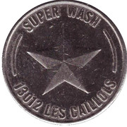 Car Wash Token - Super Wash – obverse