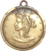 Medallion (Polish Heraldic Eagle / Greekj Goddess) – reverse