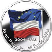 Token - 10 years of Poland in European Union – obverse