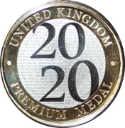 Royal Mint 2020 Premium Medal – obverse