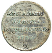 ½ Real - Proclamation coin / token – obverse