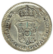 ½ Real - Proclamation coin / token – reverse