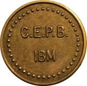 Token - C.E.P.B. IBM – obverse
