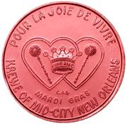 Mardi Gras Token - Krewe of Mid-City (Mid-City's Merry Menagerie; New Orleans, Louisiana) – reverse