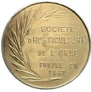 Token - Société d'horticulture de l'Orne – reverse
