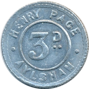 3 Pence - Henry Page (Aylsham) – obverse