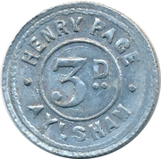 3 Pence - Henry Page (Aylsham) – reverse