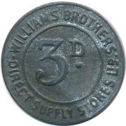 3 Pence - Williams Brothers Direct Supply Stores – obverse