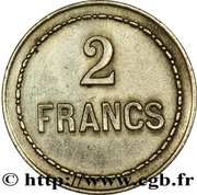 2 Francs - Cercle du Jardin Turc – reverse