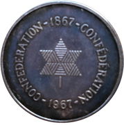 Token - Centennial of Canadian Confederation – reverse