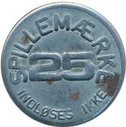 25 Spillemærke - Indløses Ikke – reverse