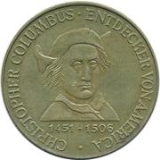 Token - Grosse Seefahrer der Weltgeschichte (Christopher Columbus) – obverse