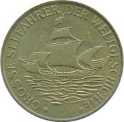 Token - Grosse Seefahrer der Weltgeschichte (Christopher Columbus) – reverse