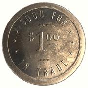 1 Dollar - Tod's Card & Billiard Room (San Diego, California) – reverse