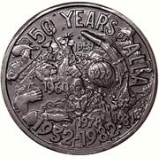 Mardi Gras Token - Alla (50 Years of Alla; New Orleans, Louisiana) – obverse