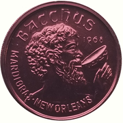 Mardi Gras Token - Bacchus (Dom Deluise; New Orleans, Louisiana) – reverse