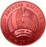 Mardi Gras Token - Italian American Marching Club (Marguerite Piazza; New Orleans, Louisiana) – reverse
