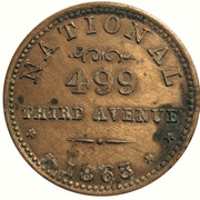 Civil War Merchant Token - B. Maloney (New York, New York) – reverse