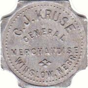 1 Dollar - C.J. Kruse General Merchandise (Winslow, Nebraska) – obverse