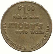 1 Dollar - Moby's Auto Wash (Bakersfield, California) – reverse