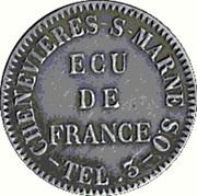 Token - Ecu de France (Chenevières-sur-Marne) – reverse