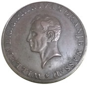 Token - William, Prince of Orange (Amsterdam 1814) – obverse