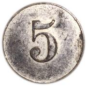 5 Pfennig (Spielgeld - Owl) – reverse